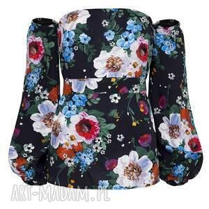 bluzki kwiatowa bluzka w malowane kwiaty