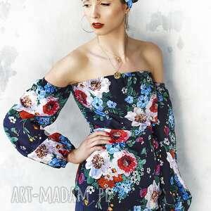 kwiatowa bluzki bluzka w malowane kwiaty