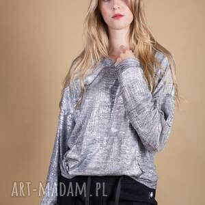 atrakcyjne bluzki bluzka w odcieniu srebrnym silver