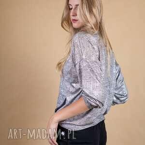 srebrne bluzki bluzka w odcieniu srebrnym silver