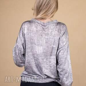 kurtki bluzki bluzka w odcieniu srebrnym silver