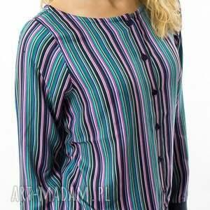 bluzki paski bluzka w strisce colorate