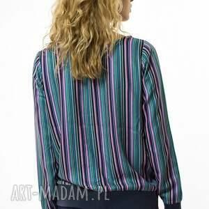 bluzki rozpinana bluzka w paski strisce colorate