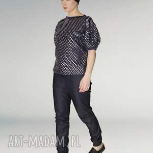 modne bluzki srebrny bluzka z bufkami ze srebrnym