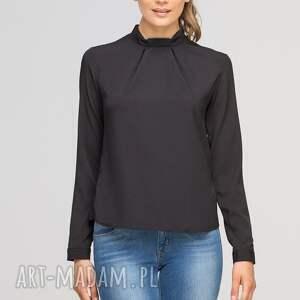 niesztampowe bluzki casual bluzka z oryginlaną stójką, blu138