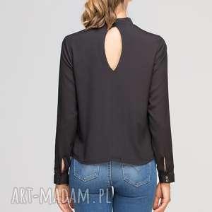 bluzki elegancka bluzka z oryginlaną stójką, blu138