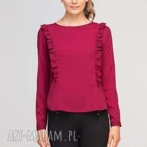bluzki casual bluzka z pionowymi falbanami