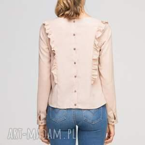 bluzki elegancka bluzka z pionowymi falbanami
