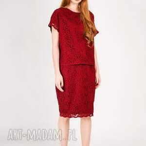 ciekawe bluzki koronkowa czerwona bluzka