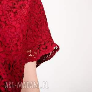 kobieca bluzki czerwona koronkowa bluzka
