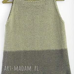 bluzki na drutach dwukolorowy top