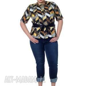 bluzki: Elegancka, ale z pazurem bluzka koszulowa, 100% bawełna - ręcznie designerska