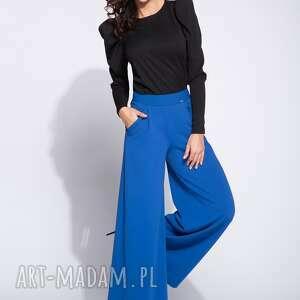 Bien Fashion bluzki: Elegancka czarna bluzka damska z bufkami - długi rekaw