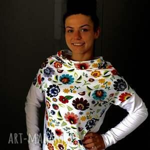 unikatowe bluzki bluzkadamska folkowa bluzka damska motyw łowicki