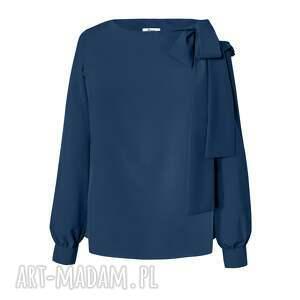 bluzki wiąznana granatowa bluzka damska wiązana