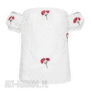 handmade bluzki haft haftowana bluzka z odkrytymi