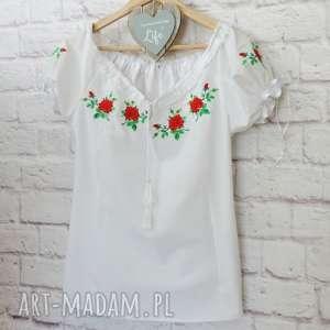 białe bluzki bluzka-haftowana haftowana bluzka góralska z bufkami