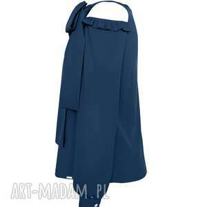 bluzki granatowa bluzka damska wiązana