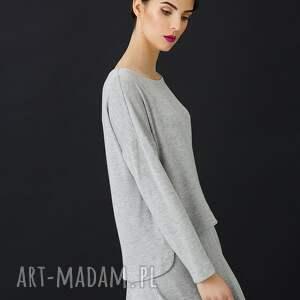 eleganckie bluzki komplet jasno szary