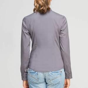bluzki elegancka klasyczna koszula, k106 szary