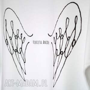 bluzki koszulka kobieta anioł bawełniana