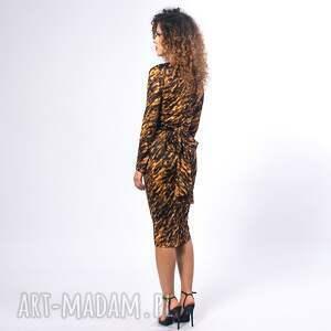 czarne bluzki kopertowa bluzka - gold zebra