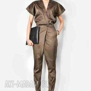 ręczne wykonanie bluzki kimono kopertowa bluzka z paskiem