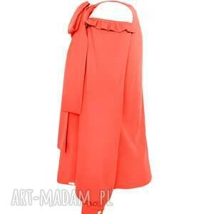 modne bluzki wiązana koralowa bluzka damska