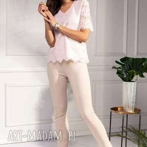różowe bluzki koronkowa bluzka camilla