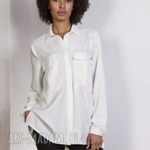 frapujące bluzki koszula oversize, k108 ecru