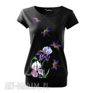 koszulka bluzki fioletowe bawełniana ręcznie