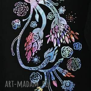 handmade bluzki bluzka kwiaty oversize bawełniana