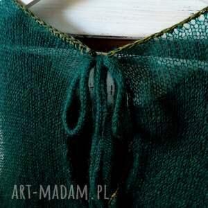 ręcznie zrobione bluzki bluzka letnia, top kid mohair