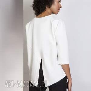 ręcznie wykonane bluzki luźna bluzka frak, blu140 ecru