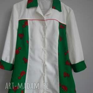 folk bluzki zielone mega okazja bluzka