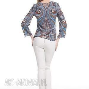 moda bluzki niebieskie bluzka dżala