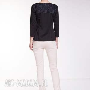 czarne bluzki moda bluzka estela