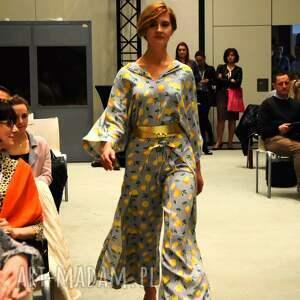 oversize bluzki bluzka kimono - cytryny