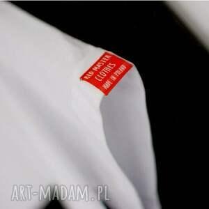 intrygujące bluzki napis oryginalna koszulka biała
