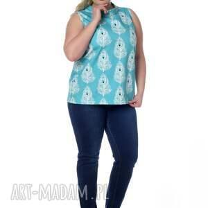 gustowne bluzki paw piękna bluzka, top, bawełna