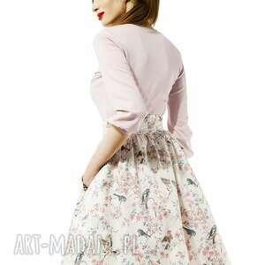 gustowne bluzki elegancka pudrowa bluzka amore