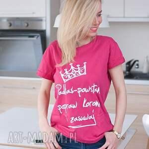 różowe bluzki fajna bluzka różowa bawełniana koszulka t shirt