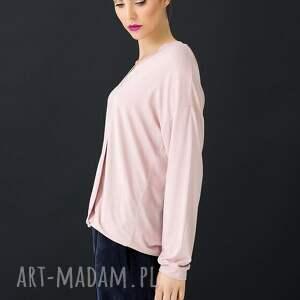 bluzki: Różowa bluzka Ankona - dzianina
