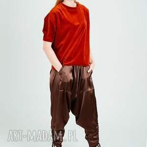 welur bluzki ruda bluzka z weluru
