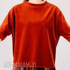 handmade bluzki rudy ruda bluzka z weluru