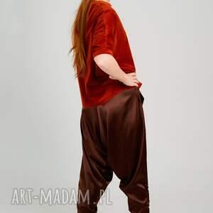bluzki welur ruda bluzka z weluru