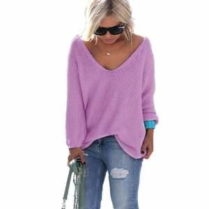 luźny bluzki sexy serek sweterek:)