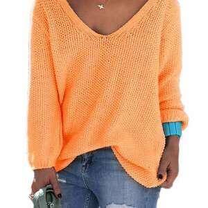 bluzki luźny sexy serek sweterek:)