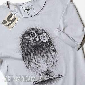 bluzki smieszna sowa pójdźka koszulka
