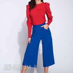 bluzki: Stylowa bluzka damska z długim rekawem i bufkami - długi rękaw kobieca